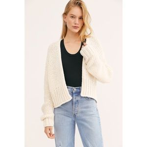 Free People Chunky Knit Glow For It Cardigan